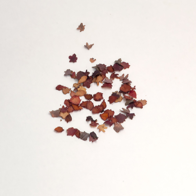 Autumn red leaves mix, 700pcs.