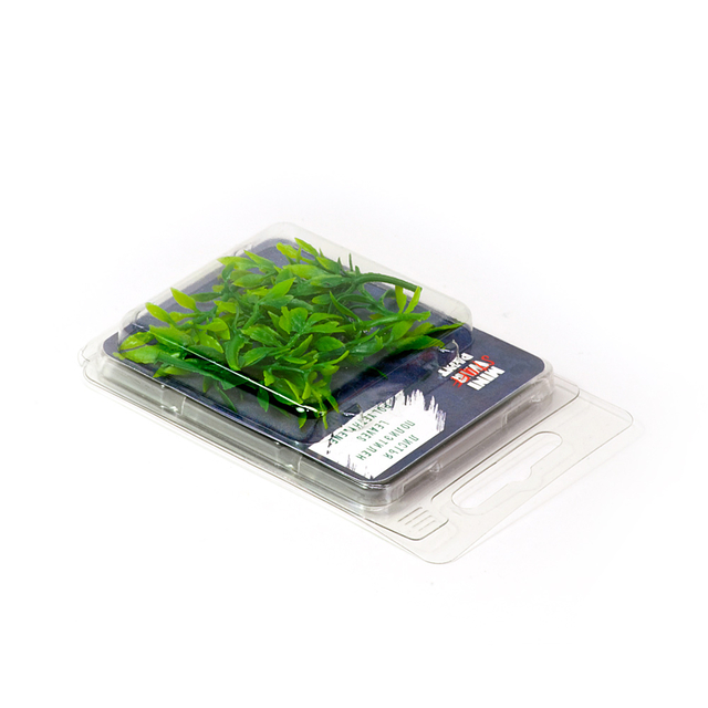 Polyethylene leaves of plants, 12pcs.