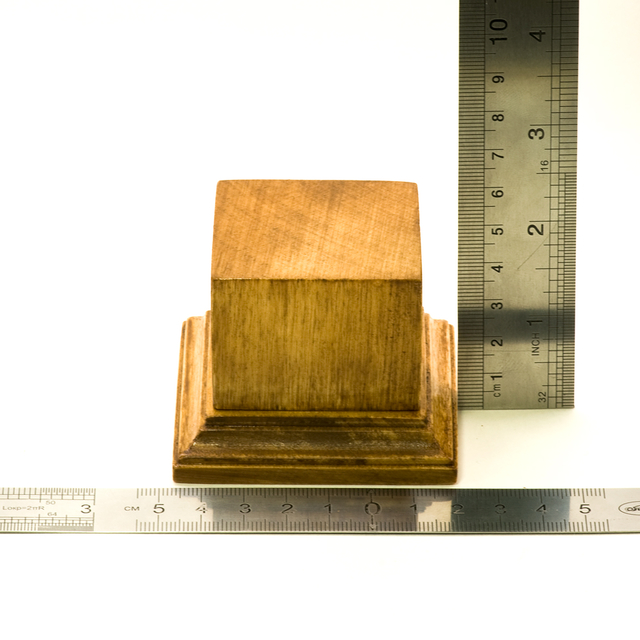 Display plinth, 50х50 h50, walnut
