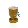 Miniature holder Hourglass, size S, walnut tinted