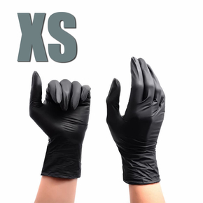 Gloves nitrile powder-free, size XS (black), 1 pair