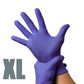Gloves nitrile, size XL (purple), 1 pair