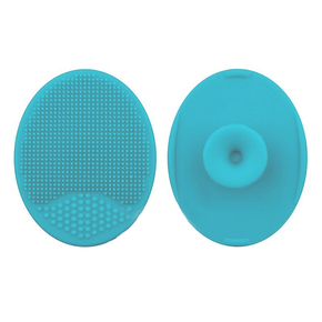 Silicone mat for washing brushes, blue
