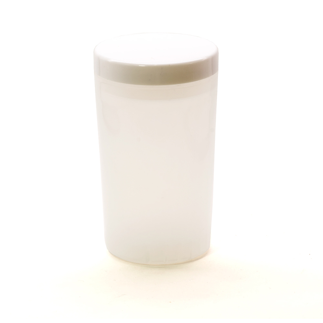 Cup for cleaning and drying brushes, white