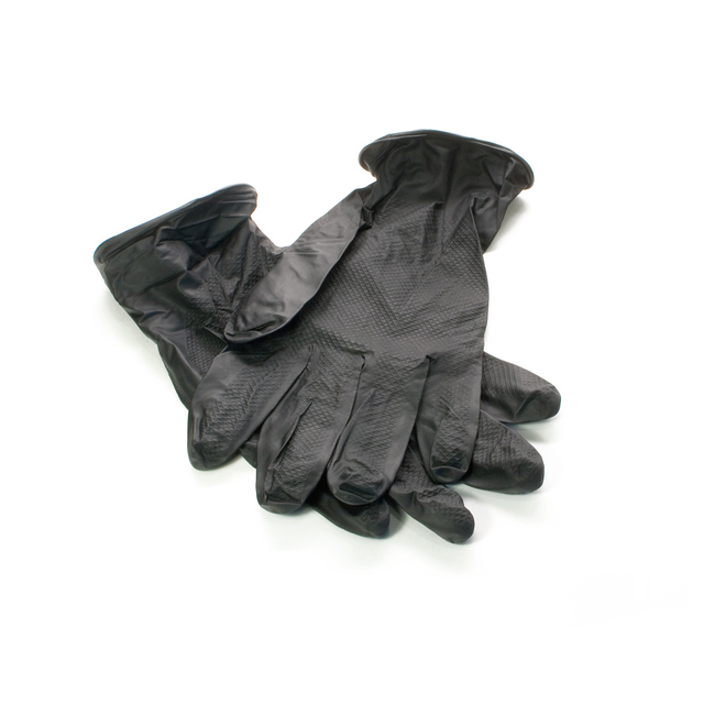 JSN NATRIX gloves size XL, 10pcs, non-slip disposable black nitrile