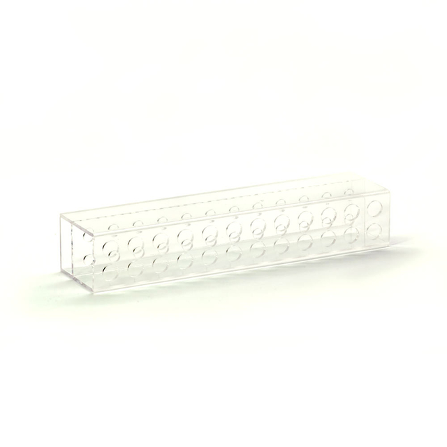 Acrylic rectangular brush and tweezers stand, 24 cells 24x4x4kh
