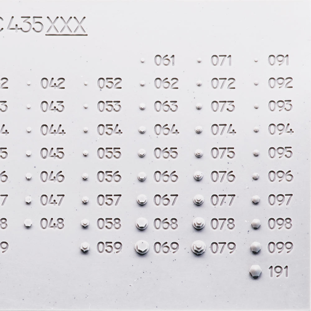 Hexagon bullet-prof bolt, diameter of the head - 0.6mm; diameter for installation-0.5mm; 140 pcs.
